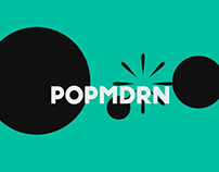 POPMODERNA logo ANIMATION