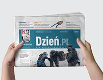 Makieta gazety DZIEŃ.PL
