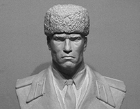 Portrait of Arnold Schwarzenegger as Ivan Danko.