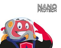 Nano Protech - Rebranding & character design
