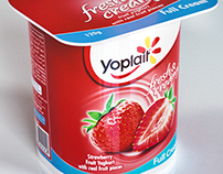 3D Modelled Yoplait Packs