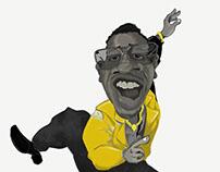 Mc Hammer Caricature by Faboun'e