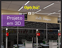 Nave 5 - Elevação e sinalização de supermercado em 3D