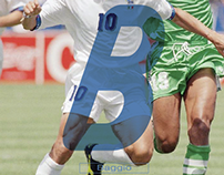Typography & Fútbol    #B // Baggio