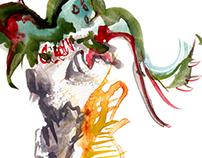 Société D'illusion: Zen + Figure Painting + Gouache
