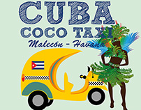 cuba coco taxi vector art royalty free images