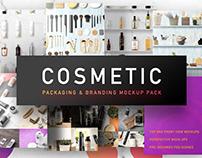 Cosmetic Packaging Branding MockUp (Freebie)