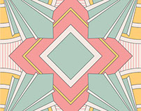 Vector Illustration Art Deco Scarf Designs