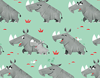 Rhino Fabric Pattern