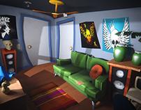 TrineArt Studio-Maniac Mansion 2 LowPoly Cartoon Room