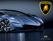 "LAMBORGHINI CONCEPT CAR "" RESONARE "" by Paul Breshke"