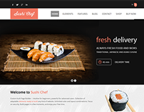 Sushi - Food multilingual delivery Wordpress theme