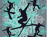 winter sports skier vector art royalty free images