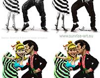 Digital ilustration Grease