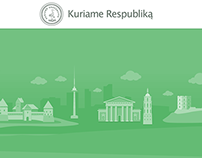"""Kuriame respubliką"" website design + Illustration"