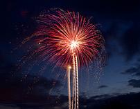 Fireworks Light Painting