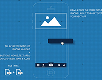 iPhone 5 UI / GUI Blueprint App Sketch