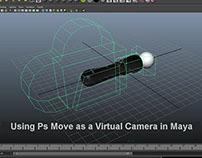 Using Ps Move as a Virtual Camera in Maya
