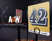 A&W Restaurants Table Numbers