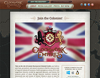 ClockworkEmpires.com – Parallaxing Website