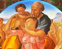 In progress piece..copy of Michelangelo's Tondo