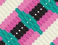 Phoenicopterus Feathers Textile