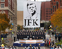 Banner for JFK 50th Anniversary Commemorative Event