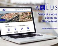 Site Institucional da Empresa Aelus Grupo