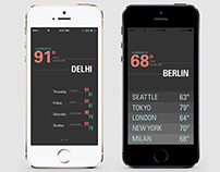 iOS Weather App Design