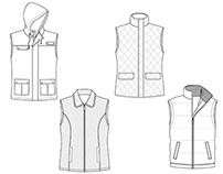Tech flats: Outerwear