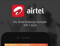 My Airtel Redesign Concept (iOS7 Style)