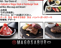 Magosaburo PH Menu Layout Design