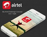 My Airtel Redesign Concept iOS7 Style