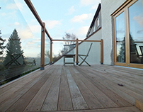 Timber & glass decking