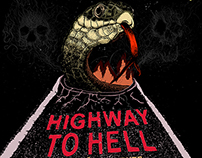 Pink Lippz - Highway to Hell Poster