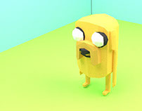 Adventure Time Low Poly Fan Art