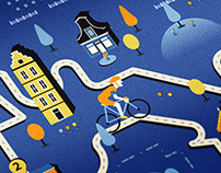 VanGogh Cycle Route / Editorial Illustration