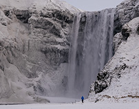 WINTER FALLS, Iceland