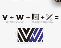 VW Construções - Logo