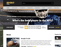 Sport Club - specialized WP theme for clubs and league