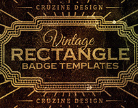 Rectangle Vintage Badges v.1