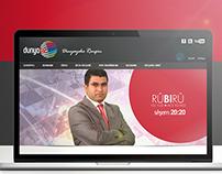 DunyaTV Pages & Web Application Redesign