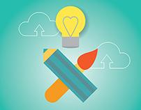 Development and Design Stock Illustration Set