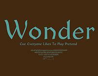 Wonder Typeface