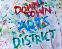 Downtown Arts District handpainted T-Shirt