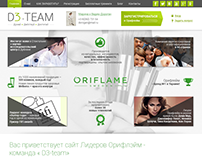 3D Team - promo site for Oriflame agents
