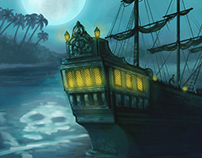 Treasure Island cover illlustration