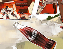 Commercial work for Coke