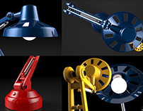 Lámpara Flexo - Modelado 3D - Rhino + Keyshot
