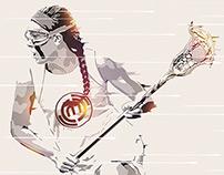 Lacrosse Player Illustration